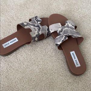 Steve Madden snake skin sandals